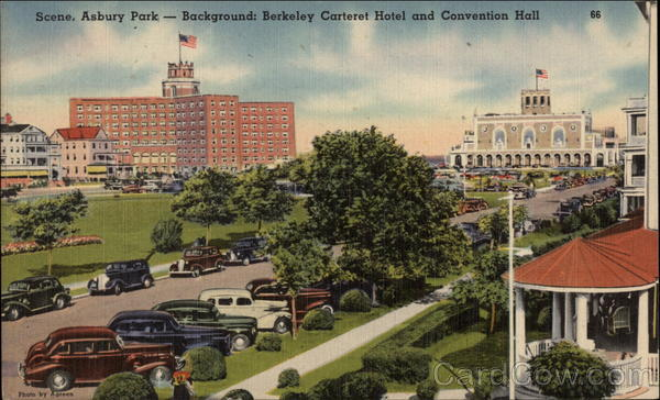 Berkeley Carteret Hotel and Convention Hall Asbury Park New Jersey