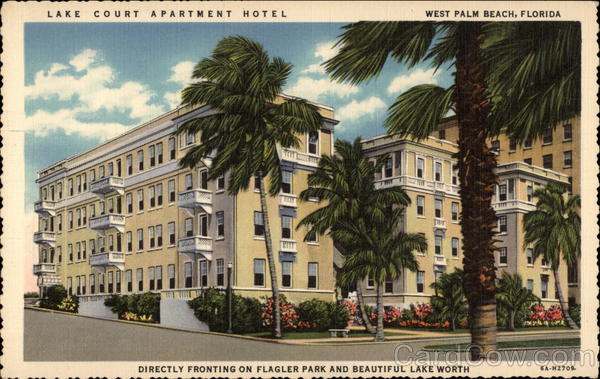 Lake Court Apartment Hotel West Palm Beach Florida