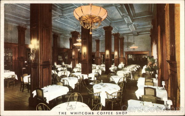 The Whitcomb Coffee Shop, Hotel Whitcomb San Francisco California