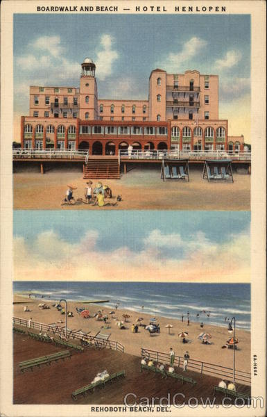 Boardwalk and Beach - Hotel Henlopen Rehoboth Beach Delaware