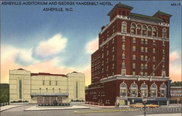 Asheville Auditorium And George Vanderbilt Hotel North