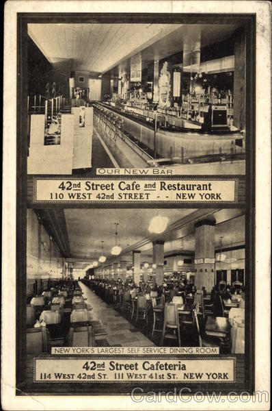 42nd Street Cafeteria, New York's Largest Self Service Dining Room