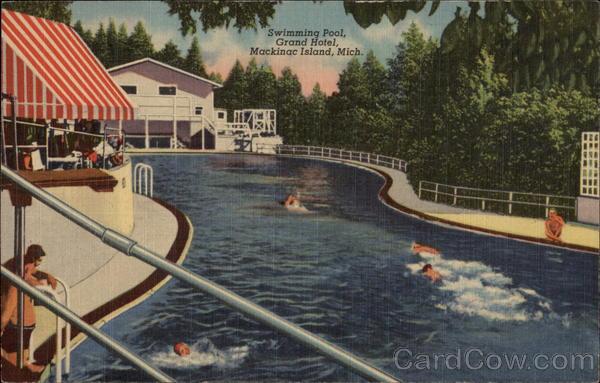 Grand Hotel Swimming Pool Mackinac Island Mi