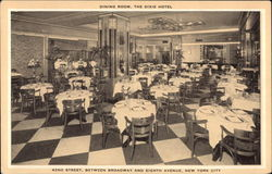 Dining Room, the Dixie Hotel Postcard