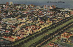 Bird's Eye View of the University of Chicago Postcard
