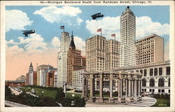 MIchigan Boulevard South from Randolph Street Postcard