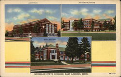 Auditorium, Jenison Field House, Music Building, Michigan State College