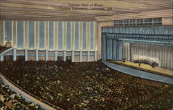 Interior, Hall of Music, Purdue University