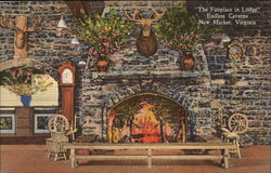 """The Fireplace in Lodge"" Endless Caverns"