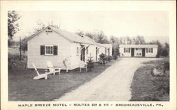 Maple Breeze Motel Postcard