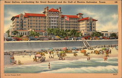 Hotel Galvez overlooking the Great Seawall and the Gulf of Mexico