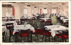 Edgewater Beach Hotel - Colonnade Room Postcard