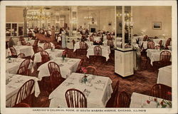 Harding's Colonial Room Postcard