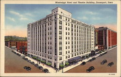 Mississippi Hotel and Theatre Building Postcard
