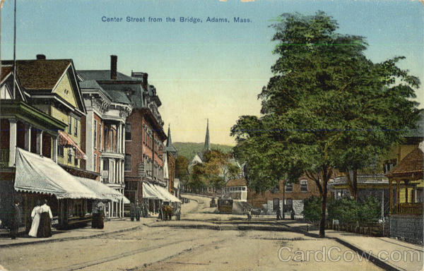 Center Street From The Bridge Adams Massachusetts