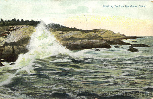 Breaking Surf On The Maine Coast Scenic