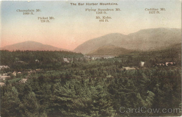 The Bar Harbor Mountains Maine