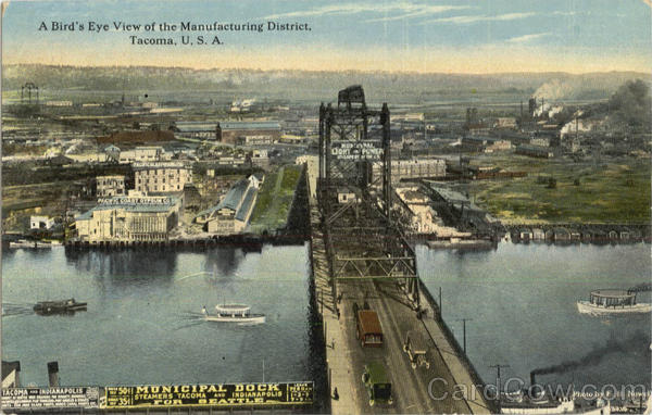 A Birds Eye View Of The Manufacturing District Tacoma Washington