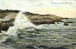 Breaking Surf On The Maine Coast