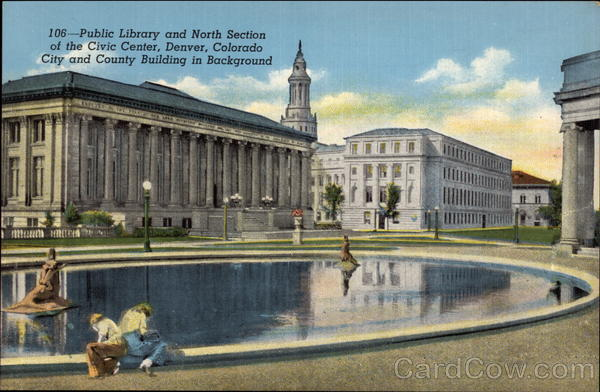 Public Library and North Section of the Civic Center Denver Colorado