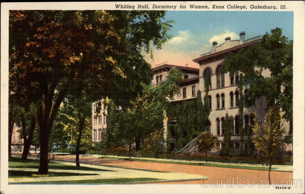 Whiting Hall, Dormitory for Women, Knox College Galesburg Illinois