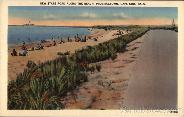 New State Road along the Beach, Provincetown Cape Cod Massachusetts