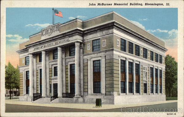 John McBarnes Memorial Building Bloomington Illinois