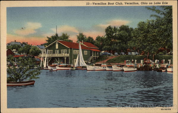 Vermilion Boat Club on Lake Erie Ohio