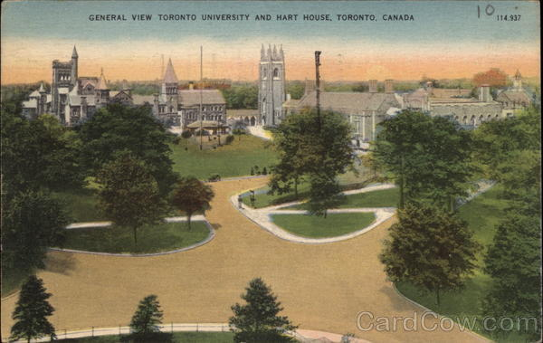 General View Toronto University and Hart House Canada