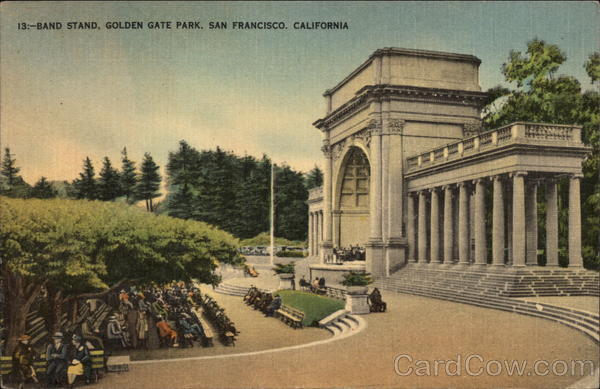 Band Stand, Golden Gate Park San Francisco California