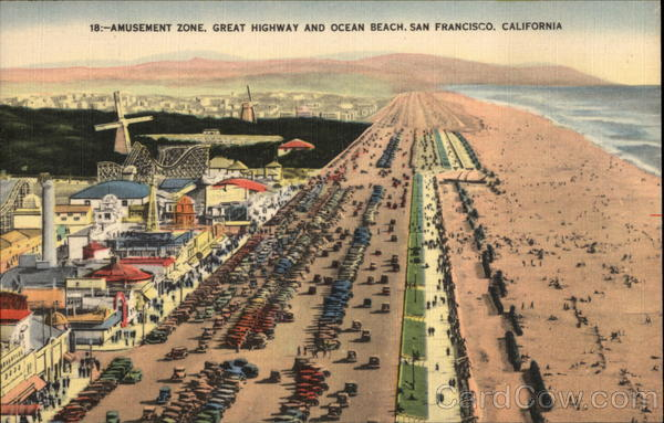 Amusement Zone, Great Highway and Ocean Beach San Francisco California