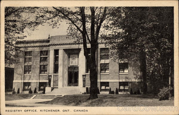 Registry Office Kitchener Canada Ontario