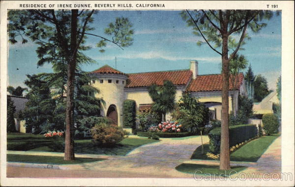 Residence of Irenne Dunne Beverly Hills California