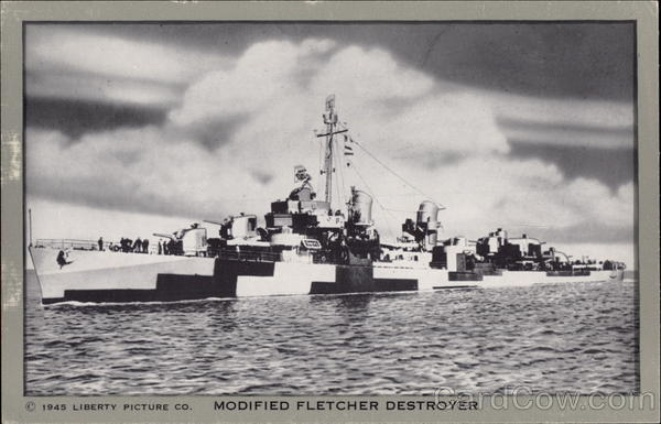 Modified Fletcher Destroyer Boats, Ships