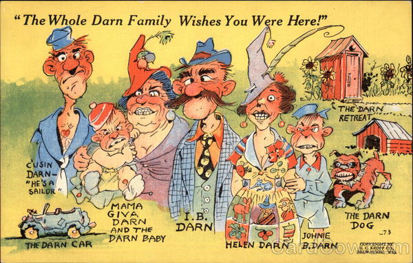 The Whole Darn Family Wishes You Were Here! The Whole Family