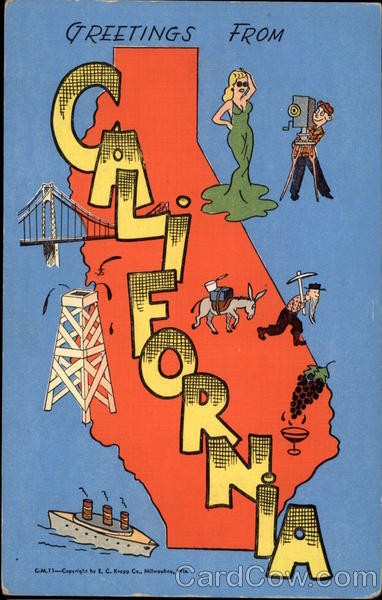 Greetings From California Maps