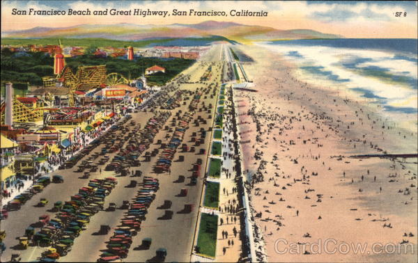 San Francisco Beach and Great Highway California