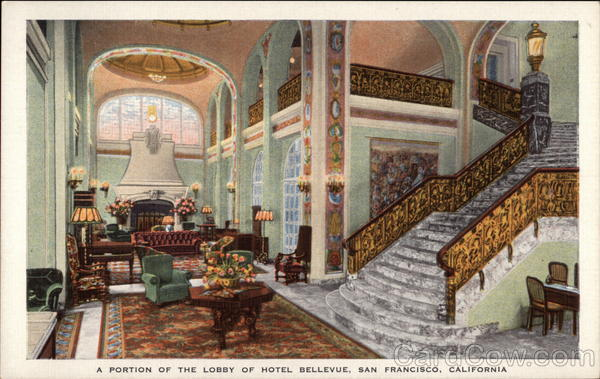 A Portion of the Lobby of Hotel Belleview San Francisco California