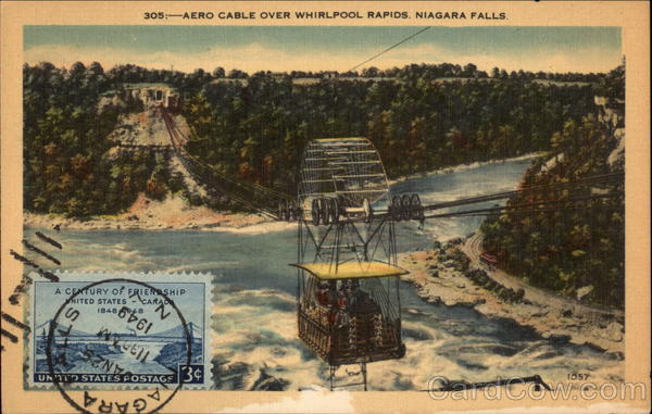 Aero Cable Over Whirlpool Rapids Niagara Falls New York