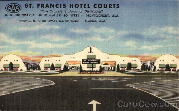 St. Francis Hotel Courts - The Traveler's Home of Distinction Mobile Alabama