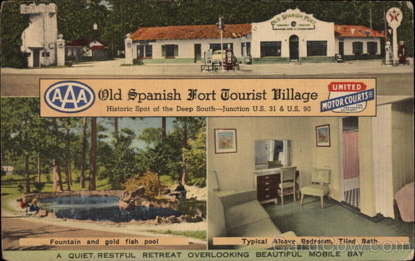 Old Spanish Fort Tourist Village - A Quiet, Restful Retreat Overlooking Beautiful Mobile Bay Alabama