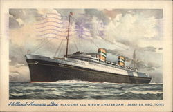 Holland-America Line Flagship T.S.S. Nieuw Amsterdam
