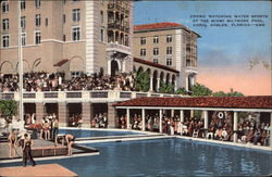 Crowd Watching Water Sports at the Miami Biltmore Pool