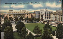 Aerial View, Rodney Square, Showing Post Office Postcard