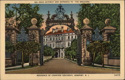 Main Gateway and Entrance to The Breakers. Residence of Countess Szechenyi
