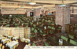 Oriole Room - The Cafeteria - YMCA Hotel Postcard