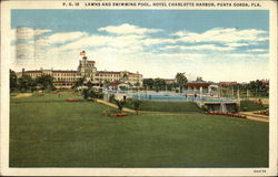 Lawns and Swimming Pool, Hotel Charlotte Harbor
