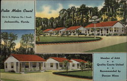 Patio Motor Court, On U.S. Highway No. 1 South Postcard