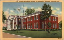 The New Engineering Building at University of Alabama Postcard