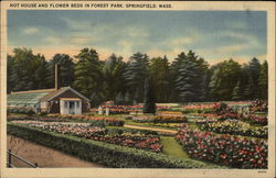 Hot House and Flower Beds in Forest Park